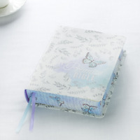 KJV MY PROMISE BIBLE JOURNALING BIBLE IN IN SILKY BUTTERFLY COLOR BLUE & WHITE