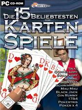 Die 15 beliebtesten Kartenspiele (PC, 2008, DVD-Box)