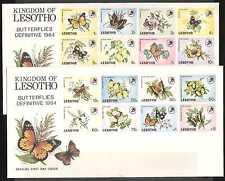 Lesotho 1984 Butterflies Pre-Printed Covers (n17433)