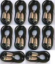 10 lot pack 6ft xlr male to female 3pin MIC Shielded Cable 6 ft microphone audio
