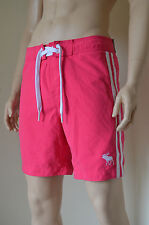 "Abercrombie & Fitch Beaver Meadows Swim Board Shorts Pink Stripe M 32"" RRP £58"