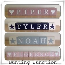 Personalised Shabby Chic Wooden Letter Blocks