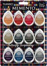 Memento Ink 12 Pack Fade Resistant Dye Ink Fine Details Tsukineko MD-012-300 NEW