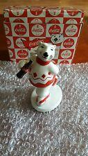 "1995  Coca-Cola Ceramic Polar Bear ""Always Ice Skating"" NIB! by Enesco"
