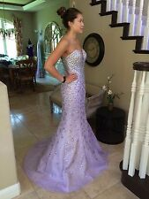 $799 NWT JOVANI MERMAID PROM/PAGEANT/FORMAL DRESS/GOWN #23840 SIZE 0