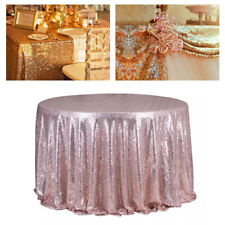 Fashion bling Sequin Cloth Rectangle Tablecloth Wedding Party Table Runner Decor