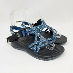 CHACO Boys Ecotread WATER SPORT BLUE TRAIL Hiking SANDALS Size 2 Shoes Girls