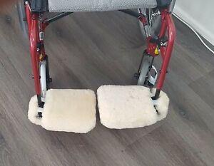 Sheepskin Wheelchair Footplate Covers . Pair