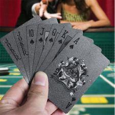 Plástico Negro PVC Póker Impermeable Magia Carta de Juego Mesa Alta Calidad