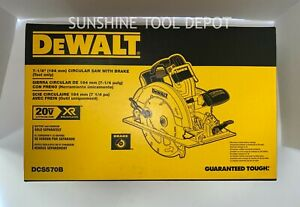 "DeWalt DCS570B 20V MAX 7-1/4"" Cordless Circular Saw (TOOL ONLY)"