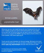 RSPB Pin Badge | Pipistrelle Bat | GNaH backing card [00421]