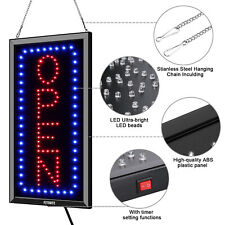 Ultra Bright Led Open Neon Light Board Store Business Sign 2 Mode On/Off
