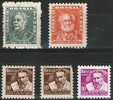 Brazil - 5 Mint Stamps from Old Album  - MH