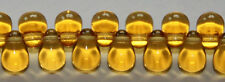 Czech Glass 6mm Tear Drop Beads - 100 Pack TOPAZ TEARDROP jewellery craft
