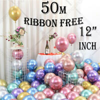10pcs 12'' Metallic Latex Chrome Balloons Helium Wedding Birthday Party Decor