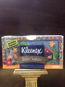 2002 Kleenex 40 2-Ply Dinner Napkins/Decorative Dispenser, Sealed Discontinued