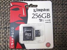 NEW SEALED Kingston  256GB Micro SD SDHC Micro SDXC TF lot Class10