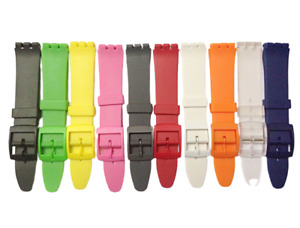 Resin Swatch Replacement Watch Strap Plastic Swatch  - 17mm (20mm) In 12 colours