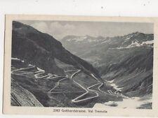 Gotthardstrasse Val Tremola Switzerland Vintage Postcard 364b
