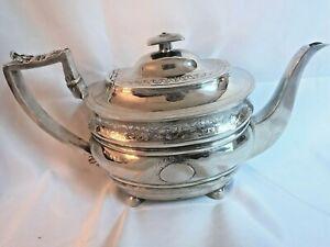 Georgian Period English Sterling Teapot. London 1806. Thomas Wallis II Maker