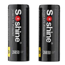 Soshine 2pcs 26650 3.7V 5500mAh Geschuetzt Wiederaufladbare Li-ion Lithium  Z4X2