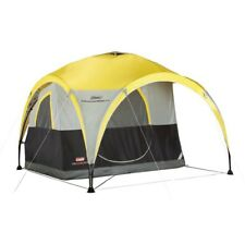 COLEMAN Two Person 2-for-1 All Day Camping Instant Dome Tent w/ Shelter Canopy