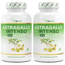 Astragalus Extrakt = 360 Kapseln - 1400 mg pro Tag - 50% Polysaccharide Vegan