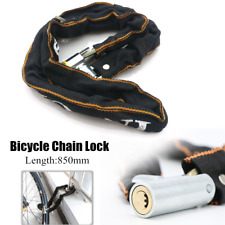 Anti-theft Bicycle Motorcycle Chain Lock Portable Road Bike Security Lock w/2Key