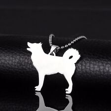 Stainless Steel Alaskan Malamute Husky Mal Mally Pet Dog Tag Pendant Necklace
