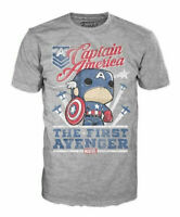 Funko Pop Tees Marvel Captain America First Avenger Adult T Shirt NEW!  S - 2XL