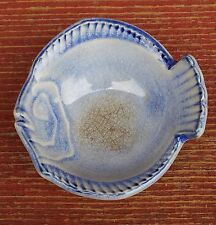 VINTAGE COLLECTIBLE LITTLE FISH SMALL POTTERY TRINKET BOWL CUTE!