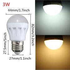 3W 5W 9W E27 Energy Saving LED Bulbs Light Lamp Pure/ Warm White DC 12V Home