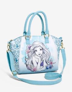 Loungefly Disney The Little Mermaid Blue Watercolor Satchel Bag - New