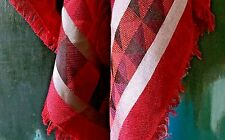 "KENZO Red Silk Cotton Wool Challis Wrap Scarf Shawl Stole All Year Chic 52"" Sq"
