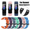 Sport Smart Wristband for Huawei Honor Band 5 4 Watch Band Wrist Strap Silicone