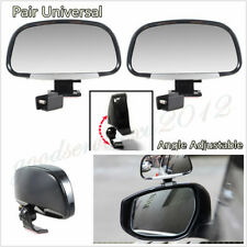 2 Pcs Silver ABS Universal Adjustable Car SUV Blind Spot Side Rear View Mirrors