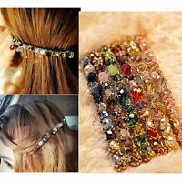 Women Crystal Rhinestone Bobby Pins Hairpin Hair Clips Ornaments Accessories
