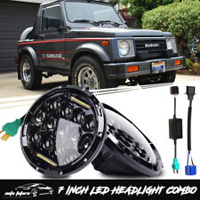 Suzuki Samurai SJ410 DOT Sealed 7 Inch LED Round Headlight Driving Lamp Kit