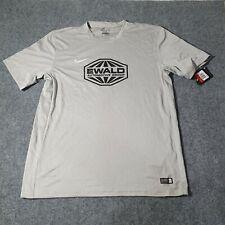 Nike Mens T Shirt Adult Large Strike FC Football Grey Soccer Size L Dri Fit