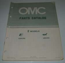 Ersatzteilkatalog Parts Catalog OMC 2 Models Bootsmotor Boot Engine März 1984!