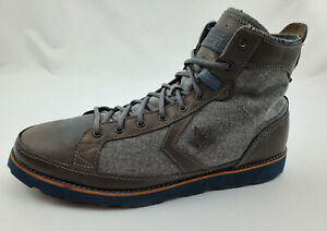 Converse Pro Field Hi Charcoal Gray Leather/Wool Boots/Shoes Mens Size 13