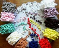 12mm PomPom Braid 2 & 3 Metres - 11 Colour Choice - May Arts - Ver14 (BulkTop B)