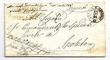 W881-UMBRIA-LETETRA IN FRANCHIGIA DA CASTEL S.GIORGIO A SPOLETO