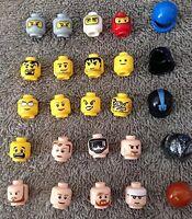 ☀️NEW X3 Helmets, X2 Hairs, X20 Heads Lego Minifigures minifig random