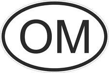 Adesivo adesivi sticker codice auto moto ritagliato nazioni ovale oman