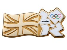 """OFFICIAL LICENSED LONDON 2012 OLYMPIC GAMES """"UNION JACK FLAG & WHITE LOGO"""" PIN /"""