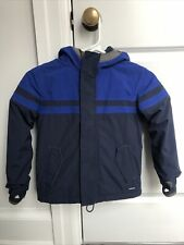 Lands End Boys / Unisex Squall Waterproof Winter Jacket Coat Navy Blue Sz 5-6