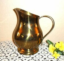 LOVELY & UNIQUE LARGE BRASS WATER MILK PITCHER, SIGNED F.B. ROGERS