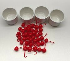 Hi Ho Cherry-O Game Vintage Set of Cherries & Buckets Replacement Pieces