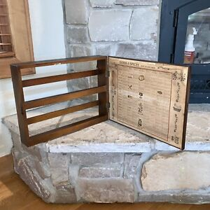 Vintage 1965 Three Mountaineers Hinged 3-Tier Spice Rack Wall Mount Cabinet